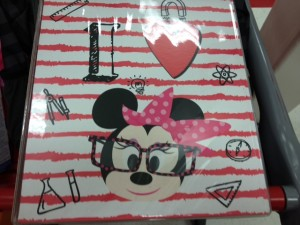 Minnie Mouse binder