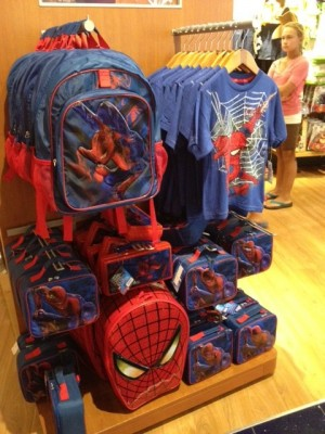 Spider Man backpack, lunch box, pencil cases