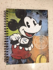 Hard-covered Mickey notebook