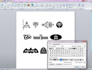 8 D FC WDW Radio Disney Themed Fonts Inserting Symbols