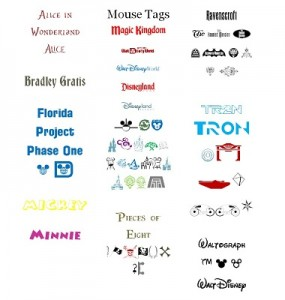 8 E FC WDW Radio Disney Themed Fonts and Symbols Colored