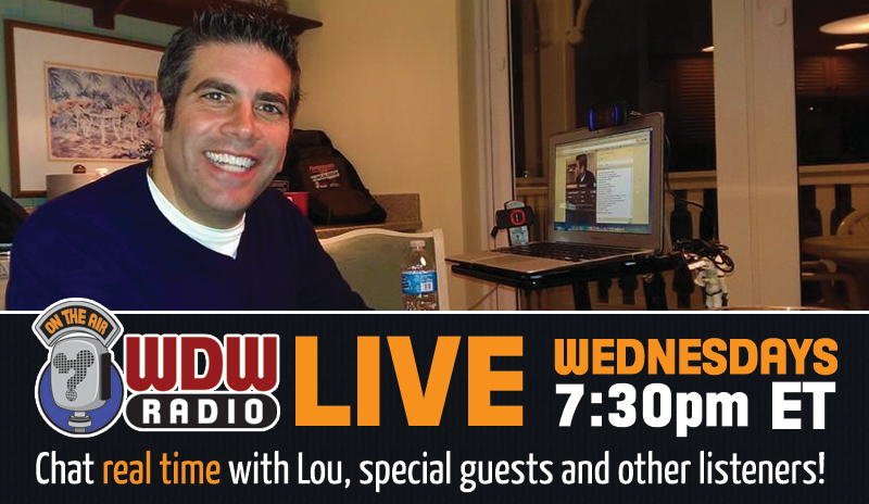 WDW Radio Live Wednesday 7:30pm