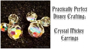 Crystal Mickey Earrings 1