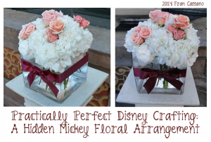 Hidden Mickey Floral Arrangement 1
