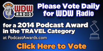 Please vote for WDW Radio for Best Travel Podcast at PodcastAwards.com